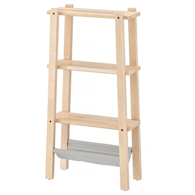 VILTO shelving unit birch 47 cm 20 cm 90 cm