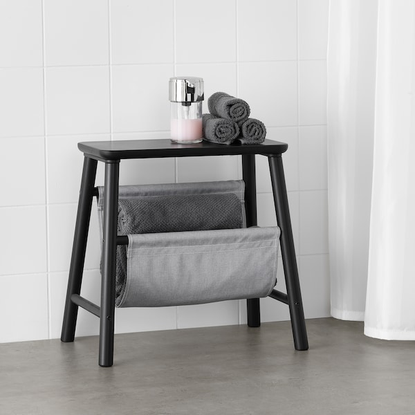 VILTO storage stool black 48 cm 30 cm 45 cm 100 kg