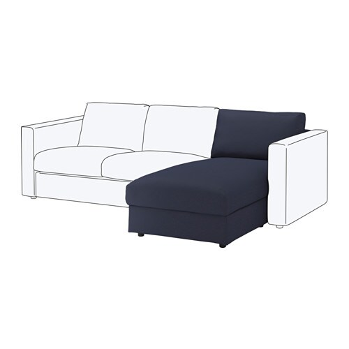 Vimle chaise longue section orrsta black blue ikea for Chaise longue jardin ikea