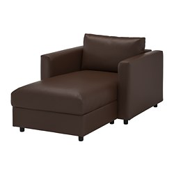 VIMLE chaise longue, Farsta dark brown