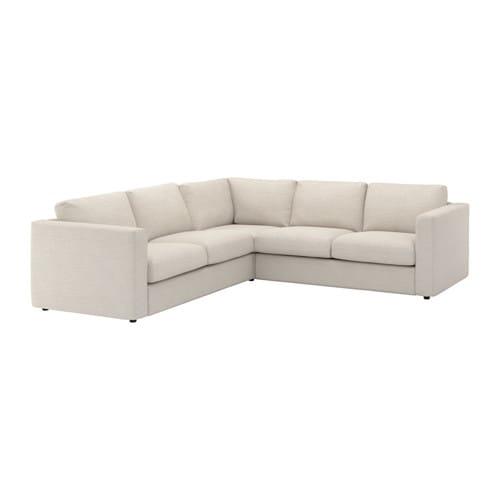 vimle corner sofa 4 seat gunnared beige ikea. Black Bedroom Furniture Sets. Home Design Ideas