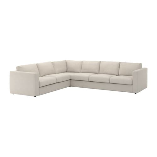 vimle corner sofa 5 seat gunnared beige ikea. Black Bedroom Furniture Sets. Home Design Ideas