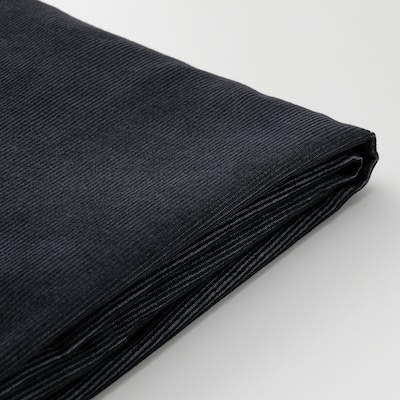VIMLE Cover 3-seat sofa w chaise longue, Saxemara black-blue
