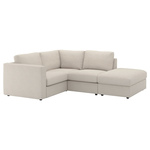 VIMLE Cover for corner sofa, 3-seat, with open end/Gunnared beige
