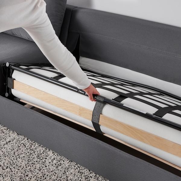 VIMLE Crnr sofa-bed, 5-seat w chaise lng, Hallarp grey