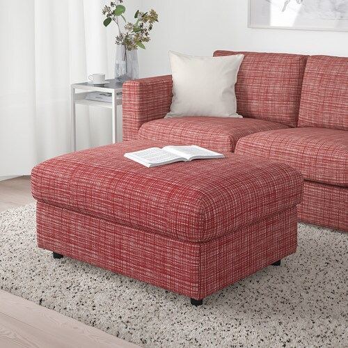Vimle Footstool With Storage Dalstorp Multicolour Ikea