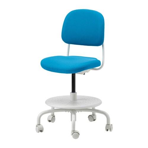 vimund children's desk chair - bright blue - ikea