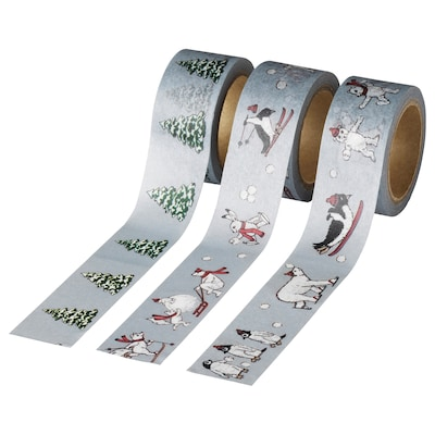 VINTER 2020 Roll of tape, animal pattern grey, 5 m