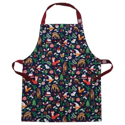 VINTER 2021 Children's apron, animal pattern multicolour, 4-7