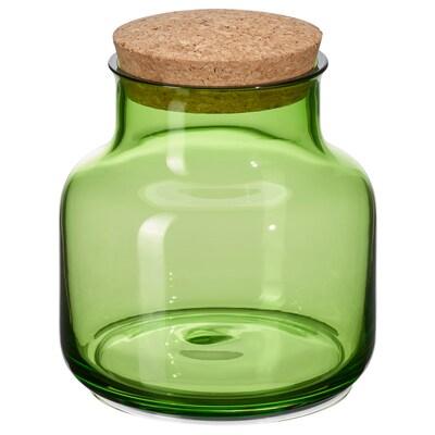 VINTER 2021 Jar with lid, light green/cork, 70 cl
