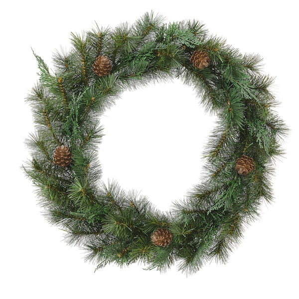VINTERFEST Artificial wreath, in/outdoor/green, 60 cm