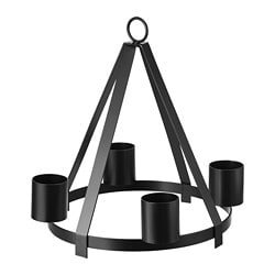 VINTERFEST candlestick/tealight holder, black