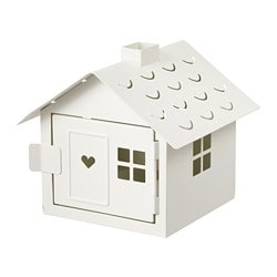 VINTERFEST tealight holder, house, white