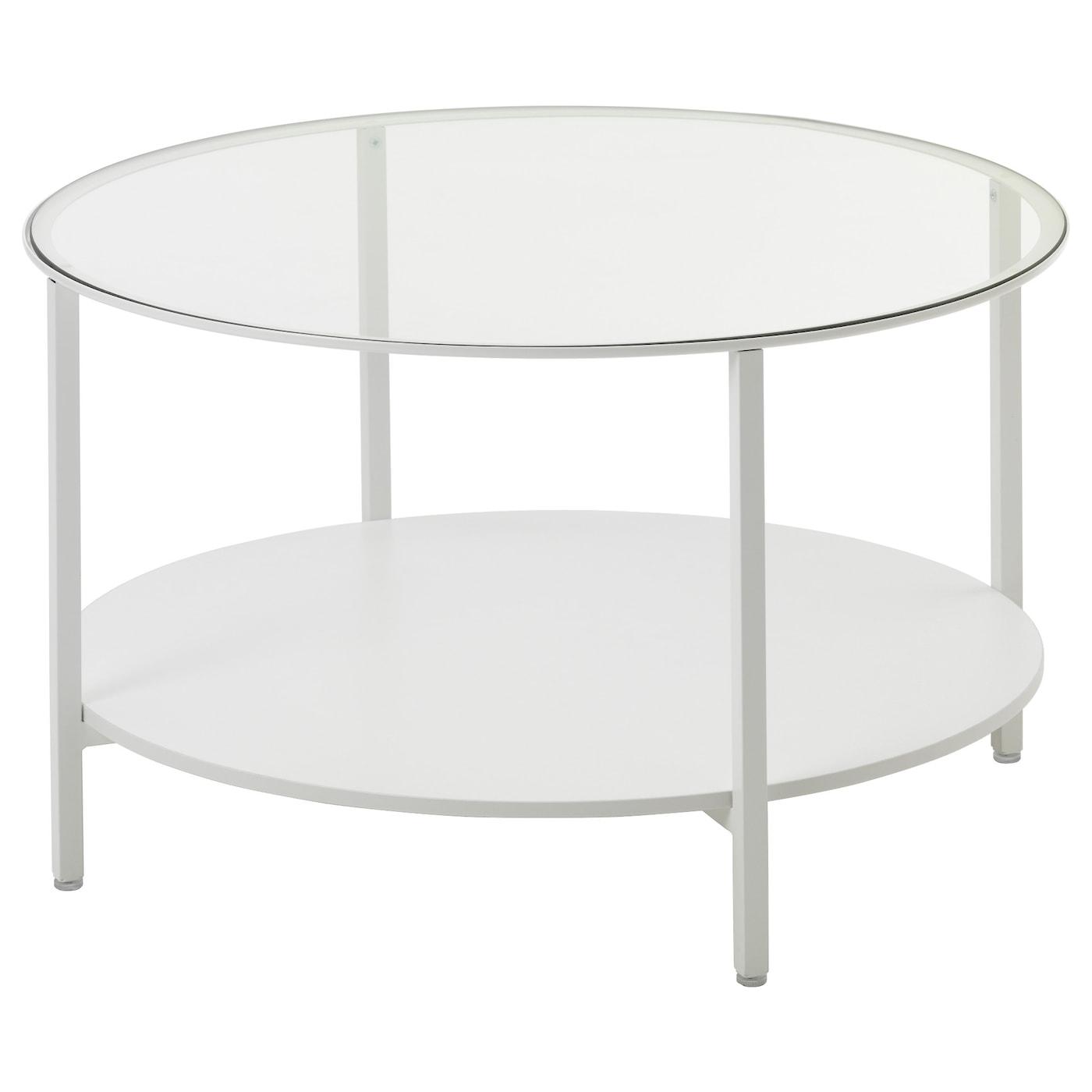 Vittsjo Coffee Table White Glass 75 Cm Ikea