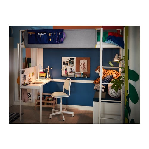 Vitval Loft Bed Frame With Desk Top Ikea