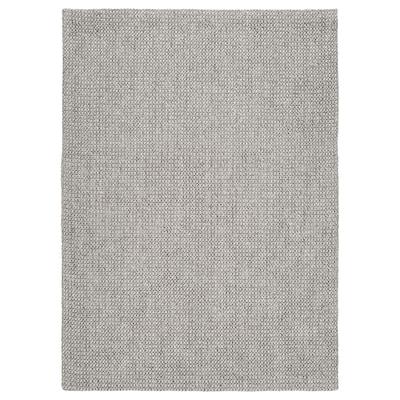 VOKSLEV Rug, flatwoven, grey, 200x300 cm