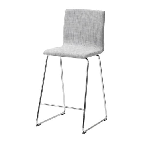 VOLFGANG Bar stool with backrest chrome platedIsunda  : volfgang bar stool with backrest grey0369138PE550984S4 from www.ikea.com size 500 x 500 jpeg 17kB