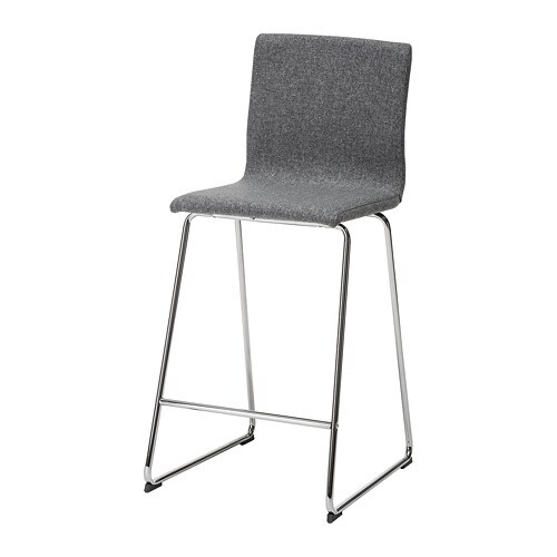 Volfgang Bar Stool With Backrest Ikea