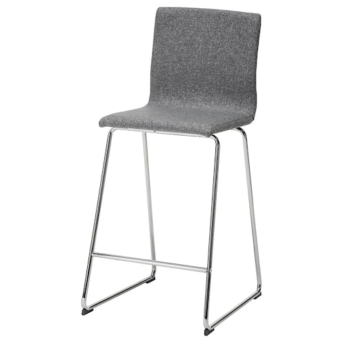 IKEA VOLFGANG Bar stool with backrest