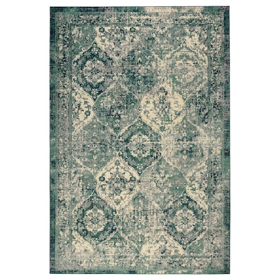 VONSBÄK Rug, low pile, green, 200x300 cm