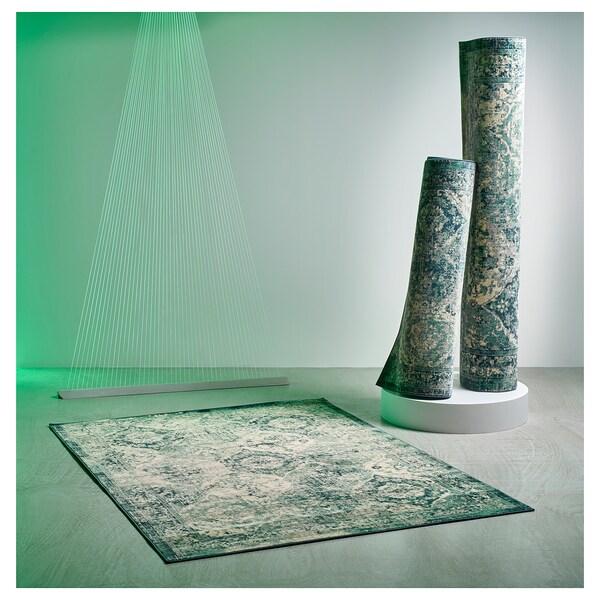 VONSBÄK Rug, low pile, green, 133x195 cm