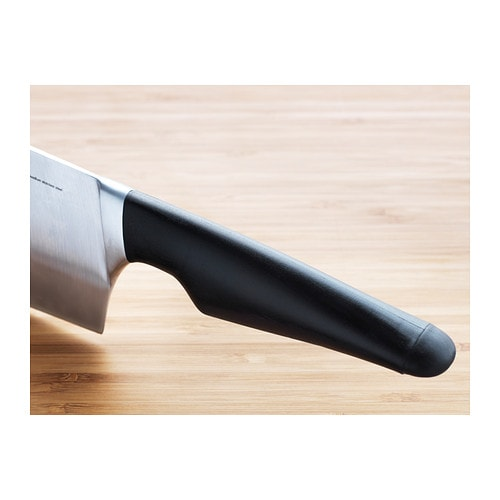 VÖRDA Chinese chopper IKEA The knife has a large high blade which gives good stability for chopping vegetables and meat.