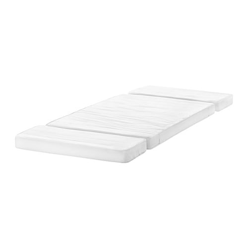 VYSSA SKÖNT Mattress for extendable bed IKEA Pressure-relieving cold foam gives good comfort for your child.