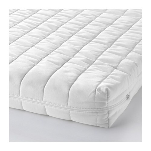 VYSSA SNOSA Mattress for extendable bed IKEA Two different comfort surfaces.
