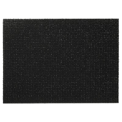 YDBY Door mat, in/outdoor black, 58x79 cm