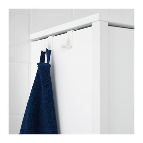 YDDINGEN High cabinet IKEA Hooks for towels or other things that you want to have within easy reach.