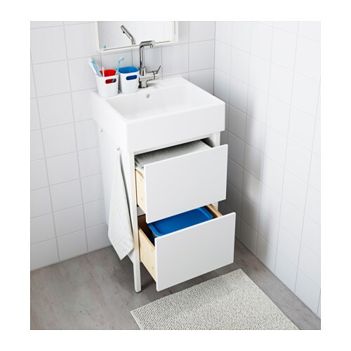 YDDINGEN Wash-stand IKEA Hooks for towels or other things that you want to have within easy reach.