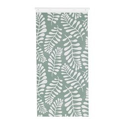 YRLA panel curtain, green, white