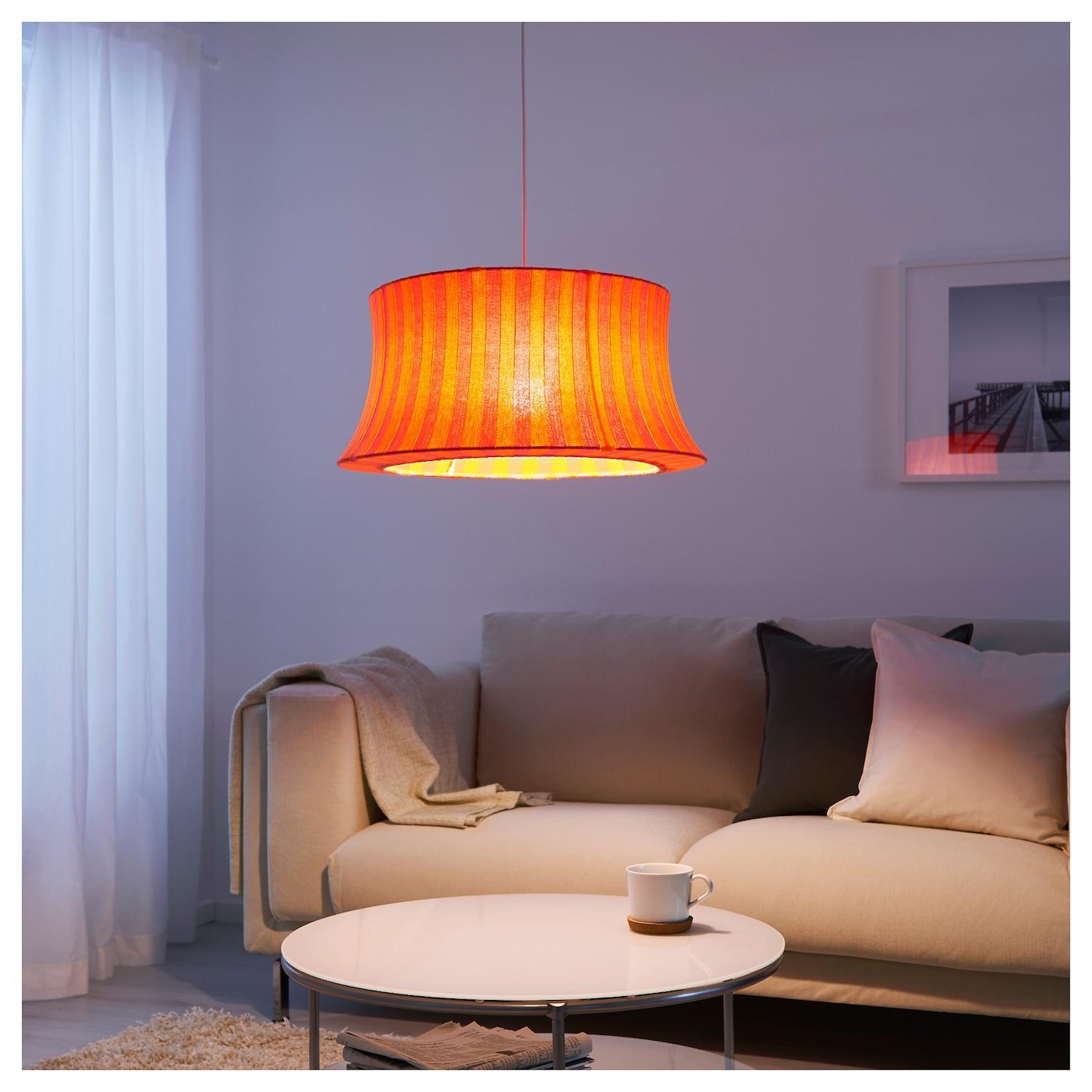 mtevik abat jour orange rose ray 55 cm ikea. Black Bedroom Furniture Sets. Home Design Ideas