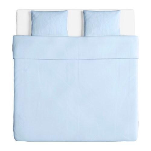 ngslilja housse de couette et 2 taies bleu clair 240x220 50x60 cm ikea. Black Bedroom Furniture Sets. Home Design Ideas