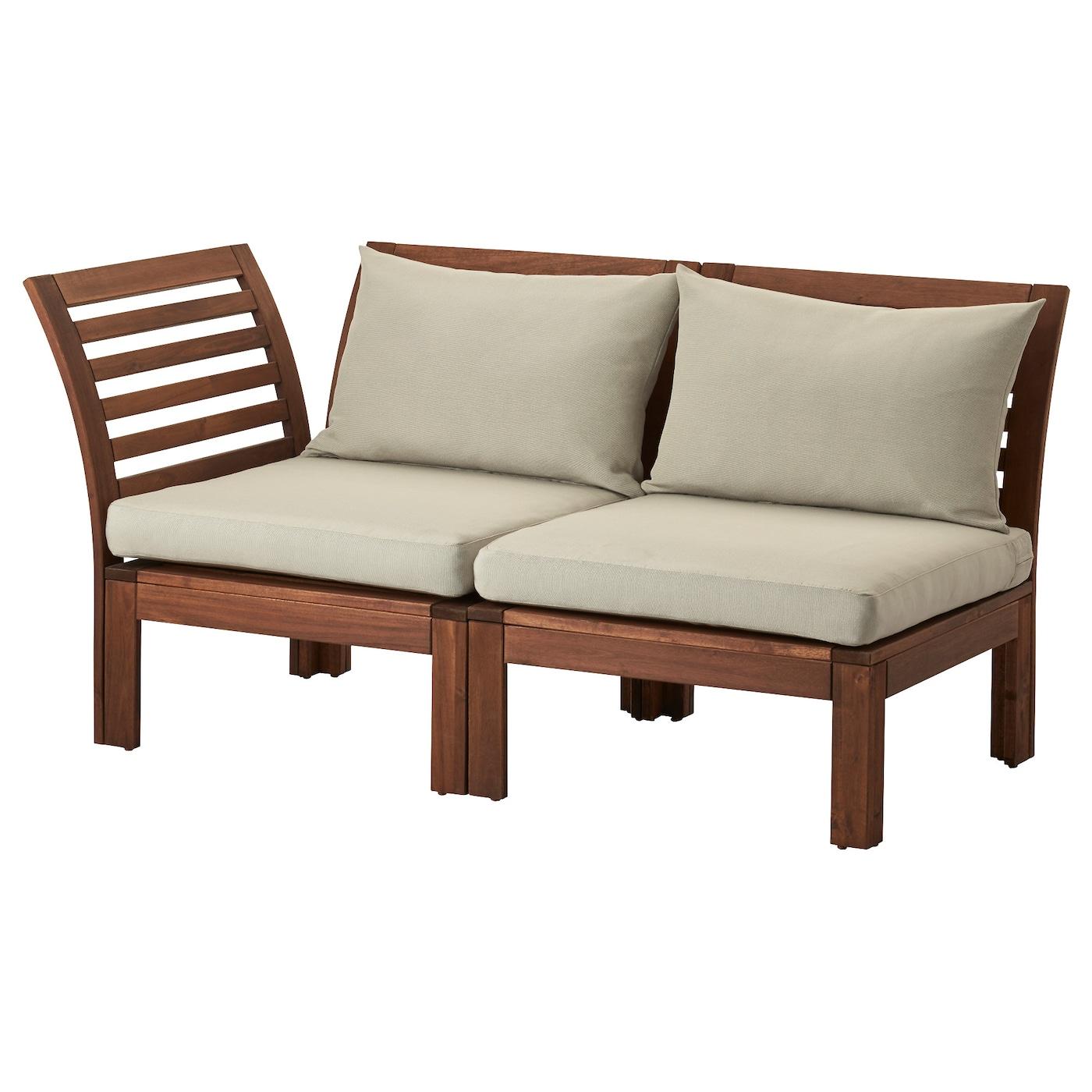 pplar canap 2 pl modulable ext rieur brun h ll beige 143 x 80 x 73 cm ikea. Black Bedroom Furniture Sets. Home Design Ideas