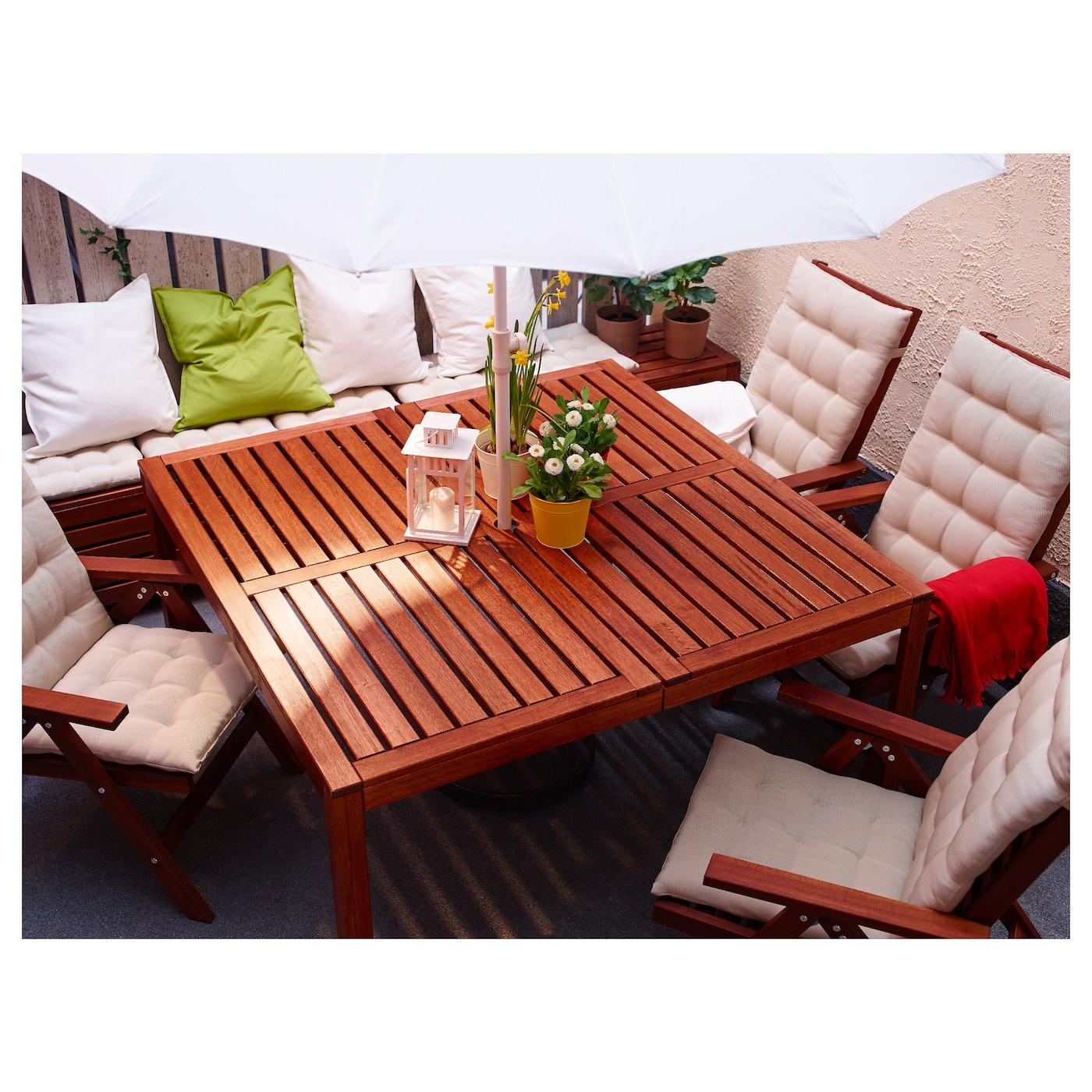 ÄpplarÖ table, extérieur teinté brun 140 x 140 cm - ikea