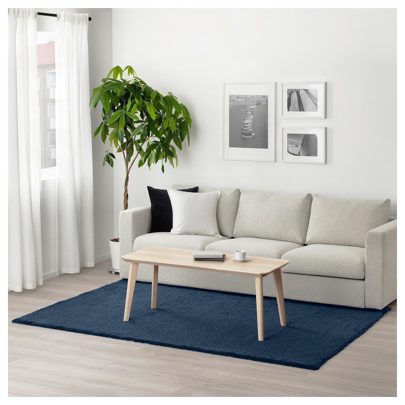dum tapis poils hauts bleu fonc 170 x 240 cm ikea. Black Bedroom Furniture Sets. Home Design Ideas