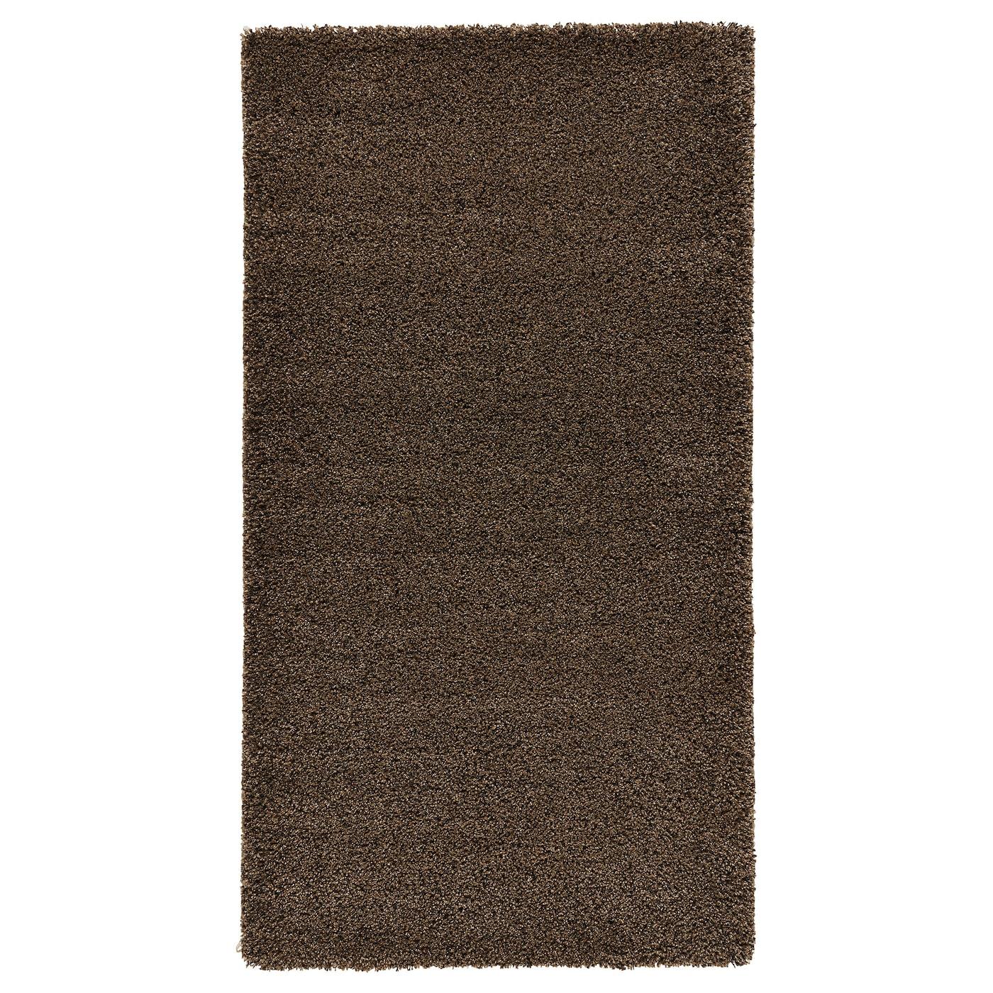 dum tapis poils hauts brun clair 80x150 cm ikea. Black Bedroom Furniture Sets. Home Design Ideas
