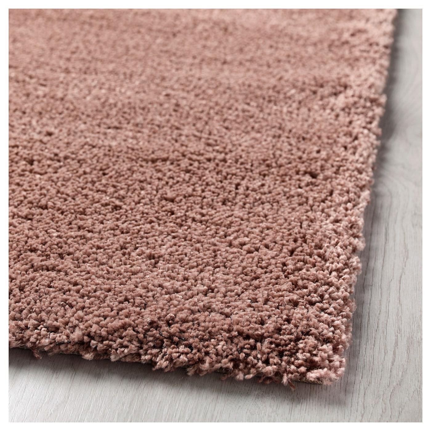 dum tapis poils hauts brun rose clair 133 x 195 cm ikea. Black Bedroom Furniture Sets. Home Design Ideas