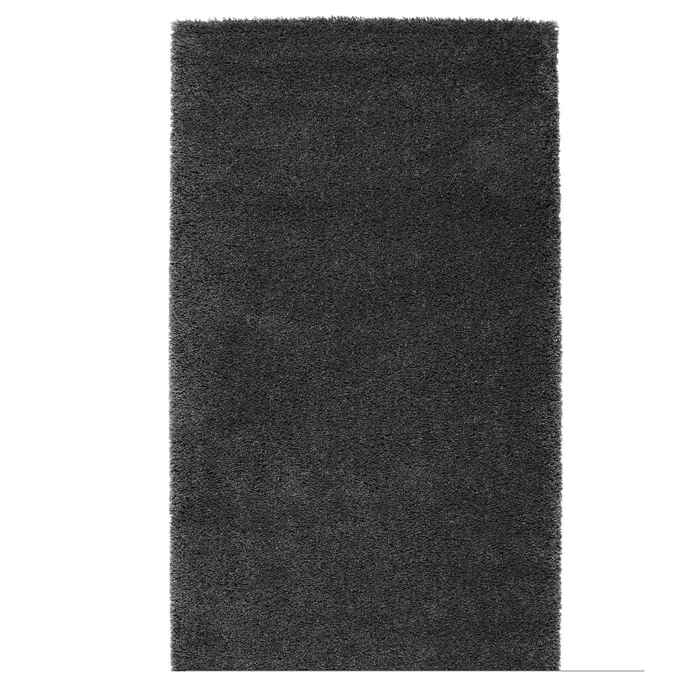 dum tapis poils hauts gris fonc 80x150 cm ikea. Black Bedroom Furniture Sets. Home Design Ideas