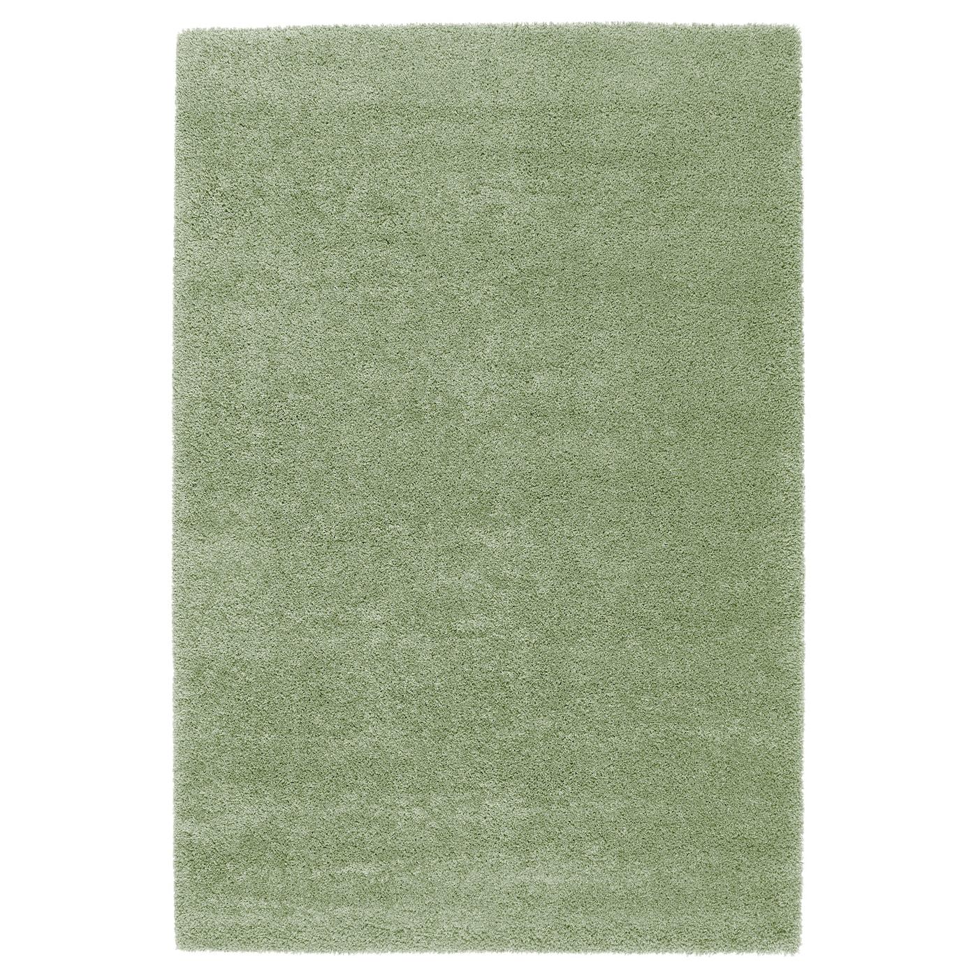dum tapis poils hauts vert clair 133x195 cm ikea. Black Bedroom Furniture Sets. Home Design Ideas