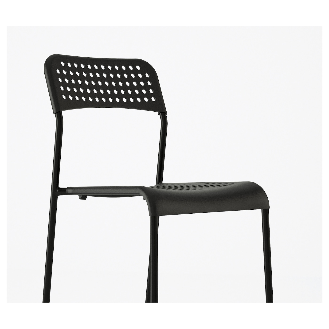 Adde chaise noir ikea for Chaise noire ikea