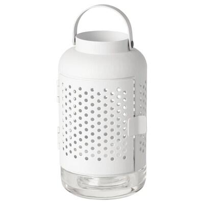 ÄDELHET Lanterne, blanc, 21 cm