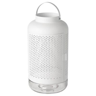 ÄDELHET Lanterne pour bougie bloc, blanc, 40 cm