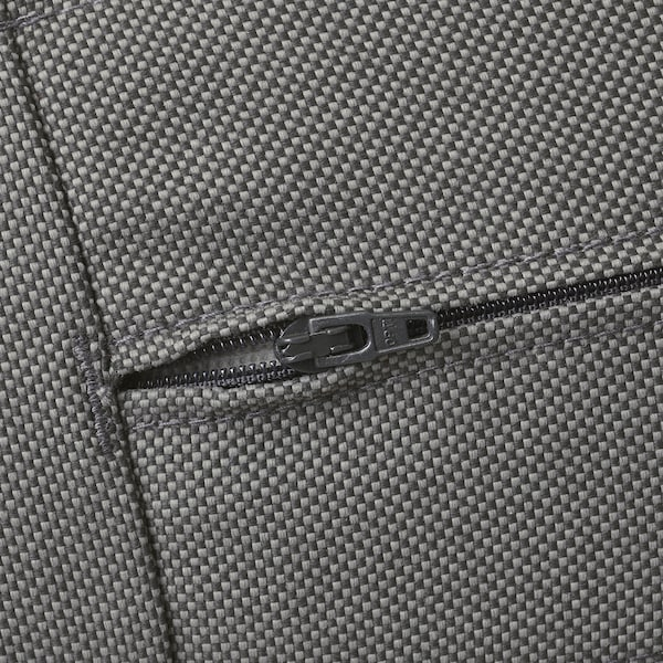 ÄPPLARÖ Canapé 3 places modulable extérieur, avec repose-pied teinté brun/Frösön/Duvholmen gris foncé, 143/223x80x84 cm