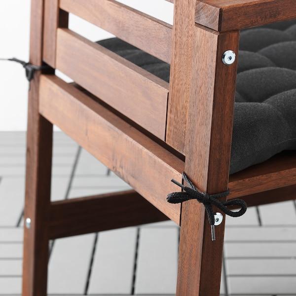 ÄPPLARÖ Table+6 chaises accoud, extérieur, teinté brun/Hållö noir