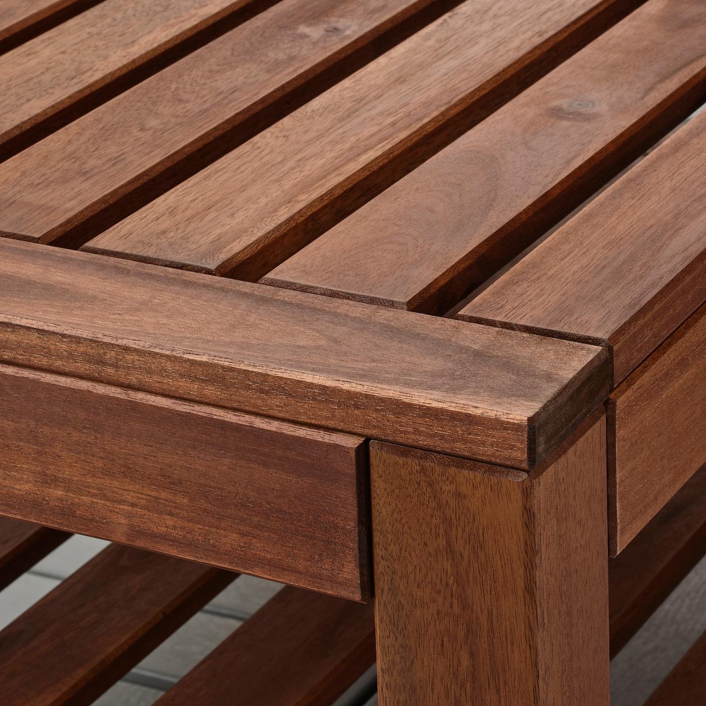 ÄPPLARÖ Table basse, extérieur, teinté brun, 90x55 cm
