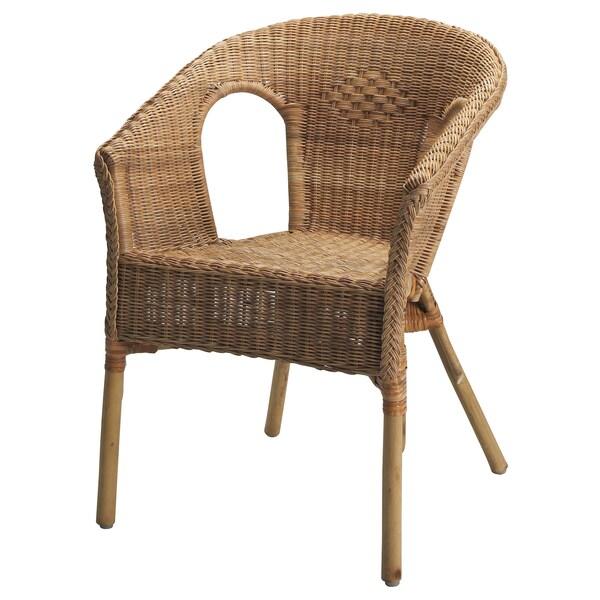 AGEN Fauteuil, rotin/bambou