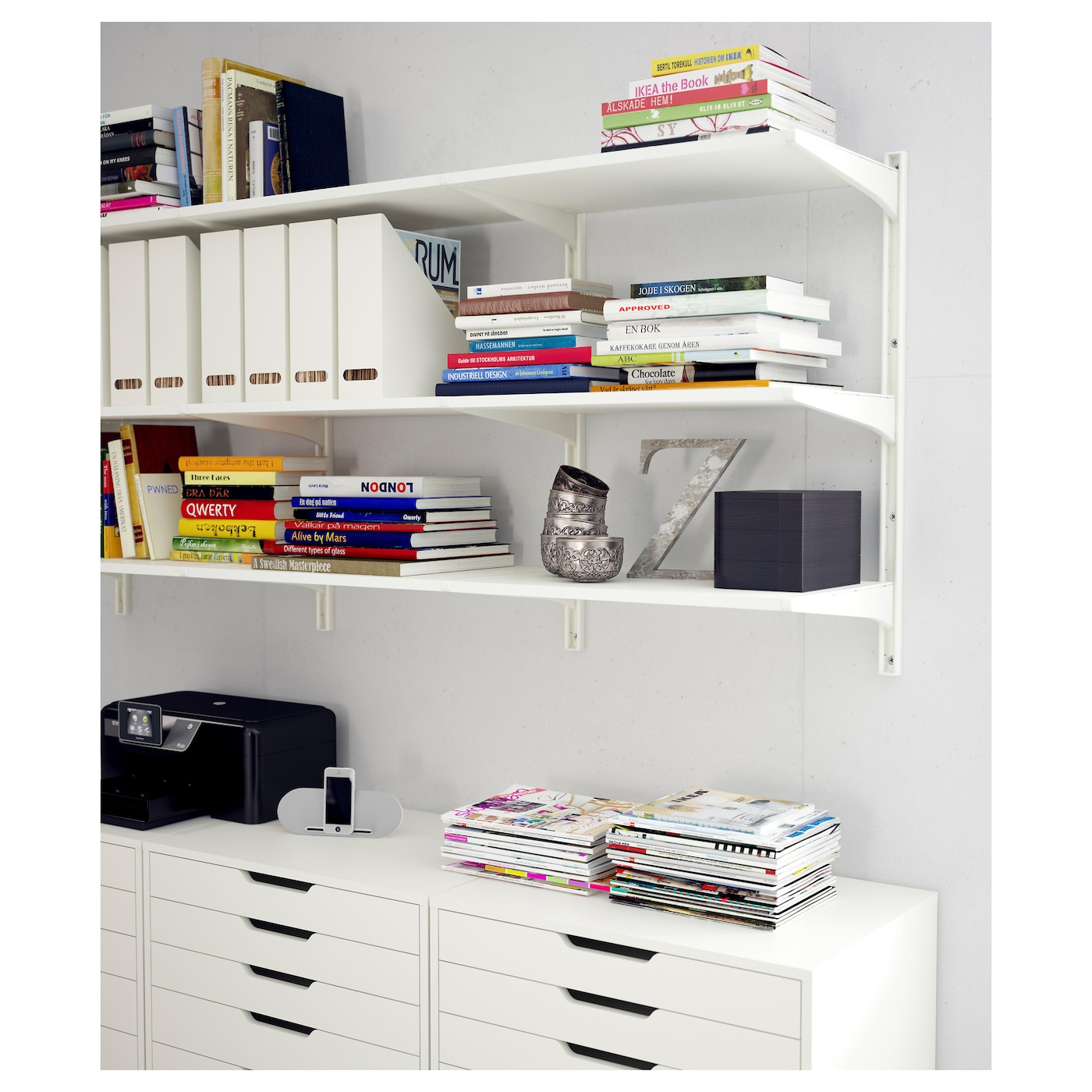 alex caisson tiroirs sur roulettes blanc 67x66 cm ikea. Black Bedroom Furniture Sets. Home Design Ideas