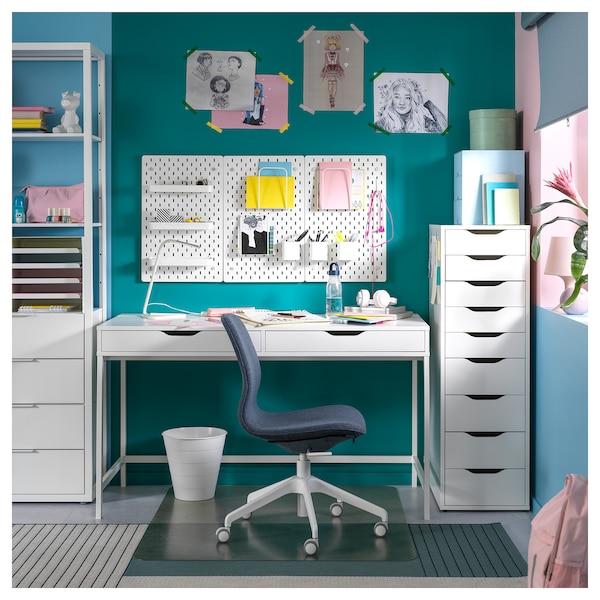 ALEX bureau blanc 131 cm 60 cm 76 cm 62 cm